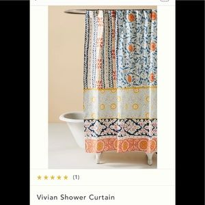 Anthropologie Vivian Shower Curtain